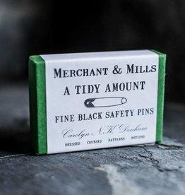 Merchant & Mills England Safety Pins Black