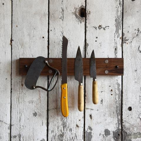 Peg and Awl Mess Hall Knife Rack - Walnut