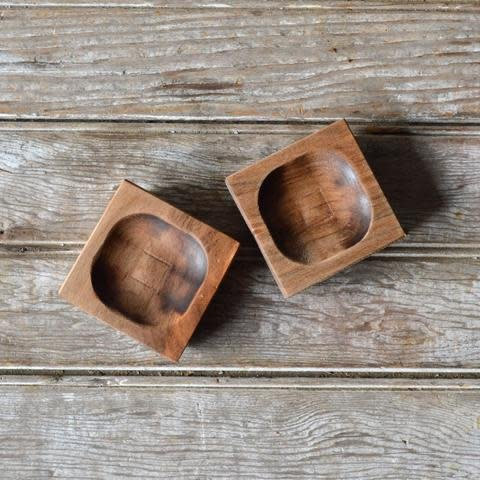 Peg and Awl Pinch Bowl, Set of 2 - Walnut