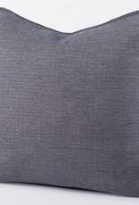 """Coyuchi Cozy Cotton Decorative Pillow Cover, 22"""" x 22"""" - Charcoal"""