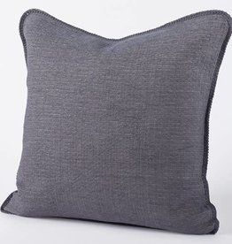 "Coyuchi Cozy Cotton Organic Pillow Cover, 22"" x 22"" - Charcoal"