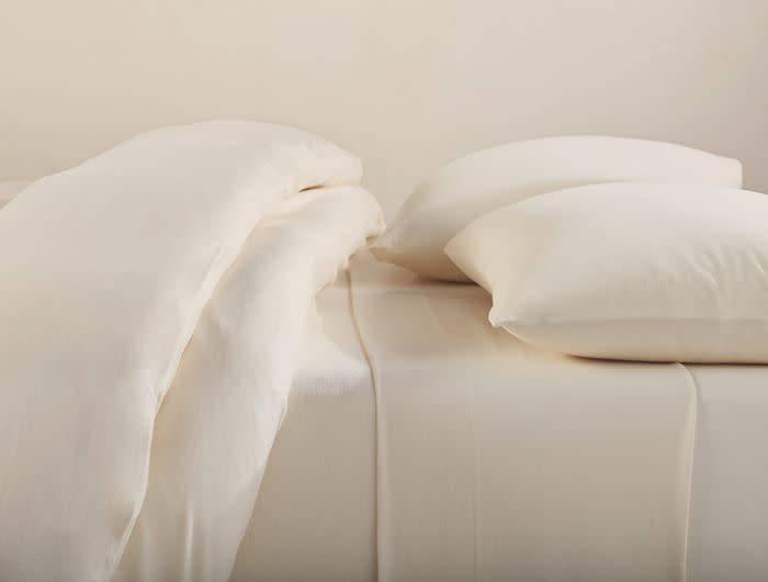 Coyuchi Jersey Sheet Set, Twin XL, Undyed, Organic Cotton