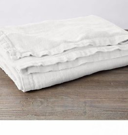 "Coyuchi Larkspur Linen Throw, 50"" x 70"" - White"