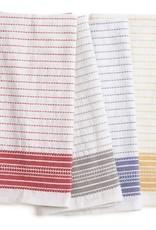 "Coyuchi Pickstitch Kitchen Towel, 20"" x 30"", Set of 4,  - Multicolor Border"