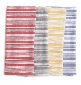 "Coyuchi Pickstitch Kitchen Towel, 20"" x 30"", Set of 4,  - Multicolor Stripe"