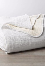 "Coyuchi Cozy Cotton Blanket Throw, Organic Cotton, 50"" x 70"" - Alpine White"
