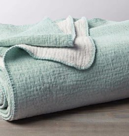 "Coyuchi [D] Cozy Cotton Blanket Throw, Organic Cotton, 50"" x 70"" - Sea Spray"