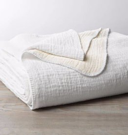 "Coyuchi Cozy Cotton Baby Blanket, Organic Cotton, 42"" x 32""  - Alpine White"