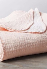 "Coyuchi Cozy Cotton Baby Blanket, Organic Cotton, 42"" x 32"" - Blush"