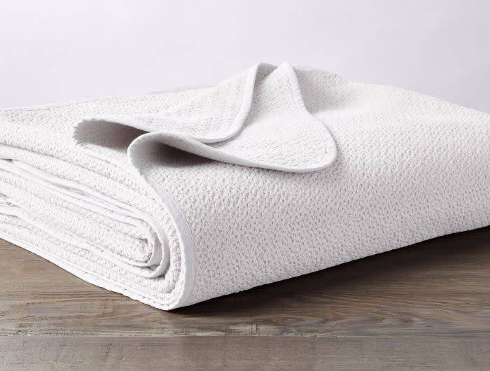 Coyuchi Honeycomb Baby Blanket, Organic Cotton - White