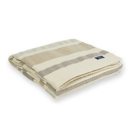 "Faribault Woolen Mill Co. Kerrick Stripe Cotton Throw, 50"" x 72 - Beige"