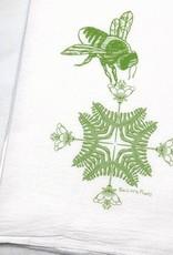 Two Little Fruits Floral Honeybee - Tea Towel