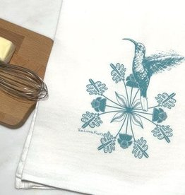 Two Little Fruits Hummingbird - Tea Towel