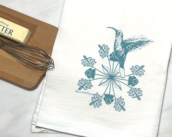 Two Little Fruits Hummingbird - Tea Towel