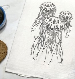 Two Little Fruits Jellyfish - Tea Towel
