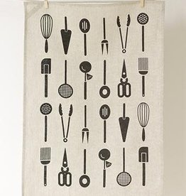 Studio Patro Cool Tools in Noir - Linen Tea Towel