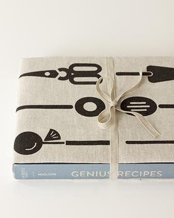 Studio Patro Cool Tools in Noir - Linen Tea Towel