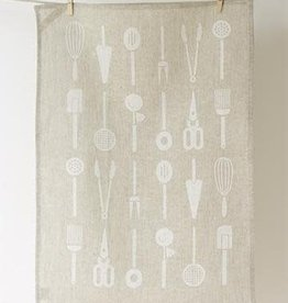 Studio Patro Cool Tools in Blanc - Linen Tea Towel