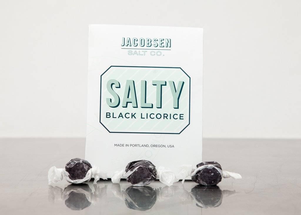 Jacobsen Salt Salty Black Licorice Box - 7.3 oz.