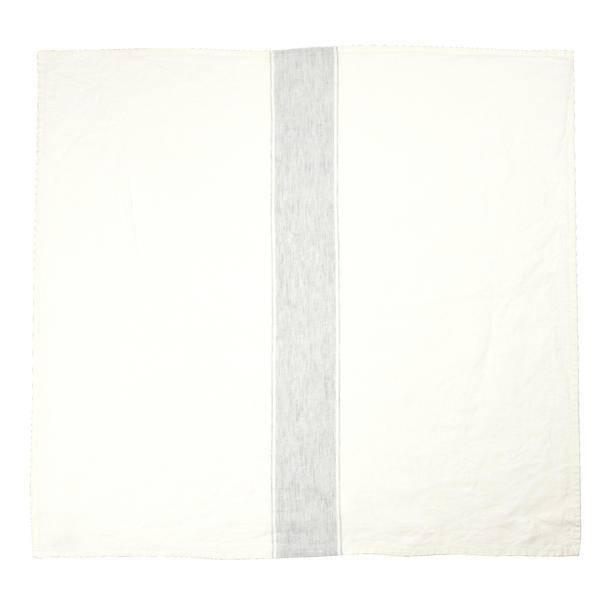 "Libeco Belgian Linens Ajaccio Linen Tea Towel, 27"" x 27"" - Grey"