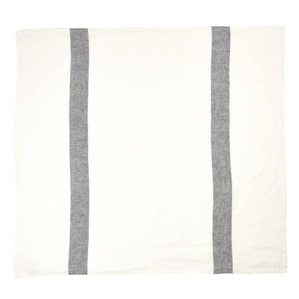 """Libeco Belgian Linens Porticcio Tea Towel, 27"""" x 27"""" - Black"""