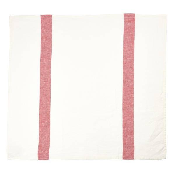 """Libeco Belgian Linens Porticcio Tea Towel, 27"""" x 27"""" - Red"""
