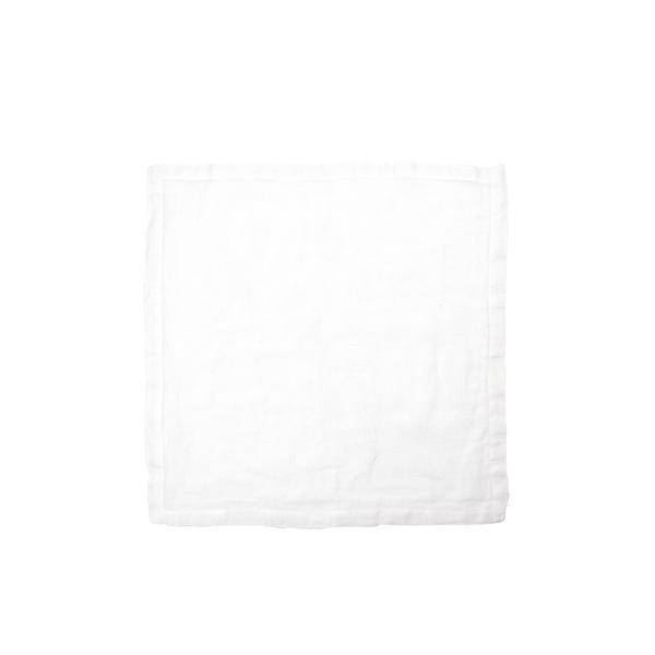 "Libeco Belgian Linens Fjord Washed Linen Napkin, 17.5"" x 17.5"" - White"