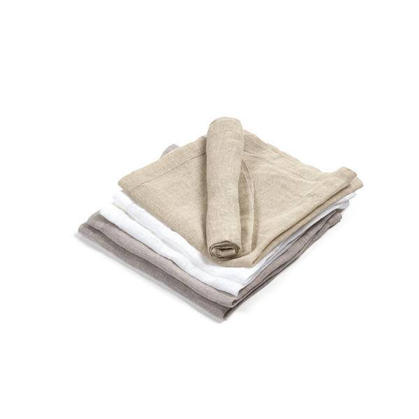 """Libeco Belgian Linens Fjord Washed Linen Napkin, 17.5 """" x 17.5"""" - Flax"""