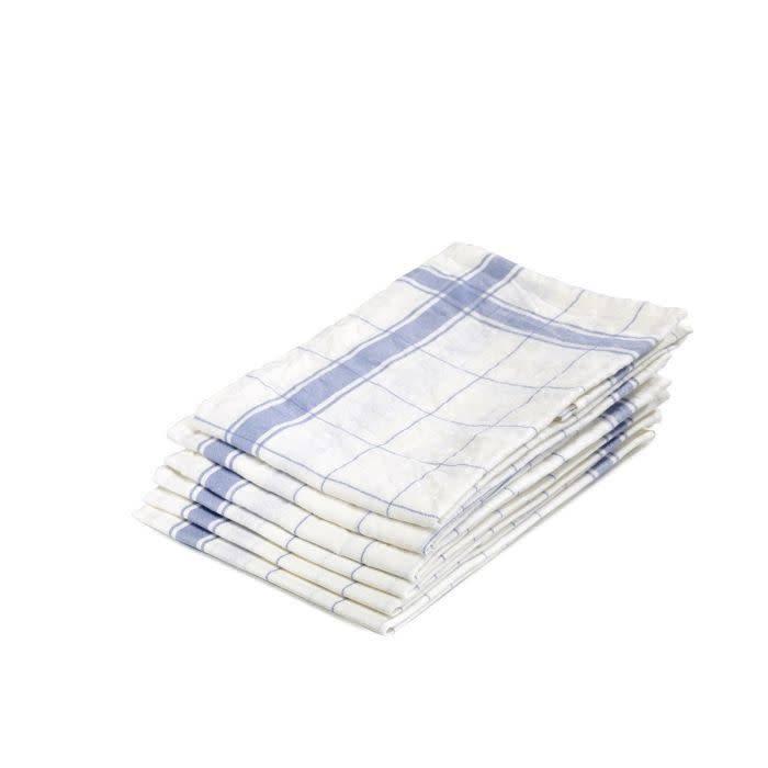 """Libeco Belgian Linens Parma Linen Tea Towel, 27"""" x 27"""" - Light Blue"""