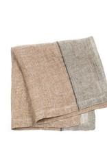 "Libeco Belgian Linens Feldhaus Linen Napkin, 16.5"" x 16.5"" - Arabica Stripe"