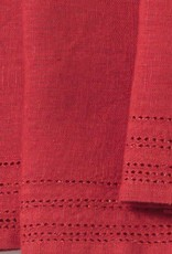 "Coyuchi Linen Eyelet Napkins, 20"" x 20"" - Crimson"