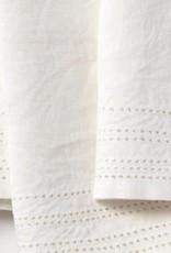 """Coyuchi Linen Eyelet Napkins, 20"""" x 20"""" - Alpine White"""
