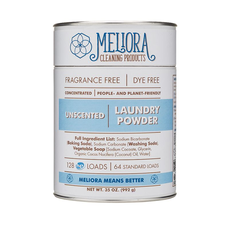 Meliora Meliora Laundry Powder, 64 Loads Unscented - 35 oz.