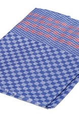 Burstenhaus Redecker Kitchen Towel, Half Linen - Blue, Red Stripe