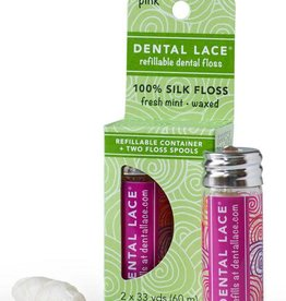 Dental Lace Refillable Dental Floss - Pink