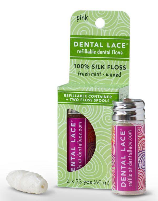 Dental Lace Refillable Dental Floss - Pink