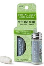 Dental Lace Refillable Dental Floss - Grey