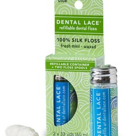 Dental Lace Refillable Dental Floss - Blue