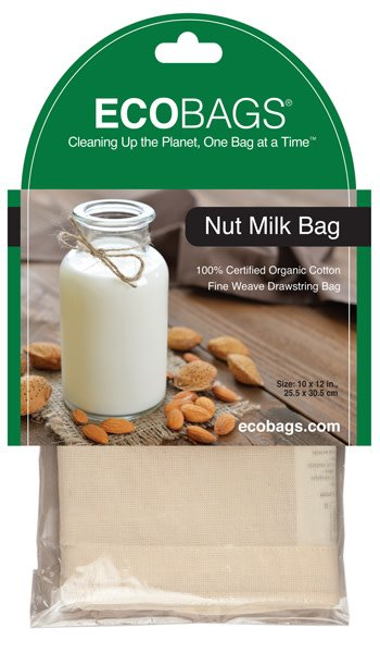 "Eco Bags Organic Nut Milk Bag, 10"" x 12"""