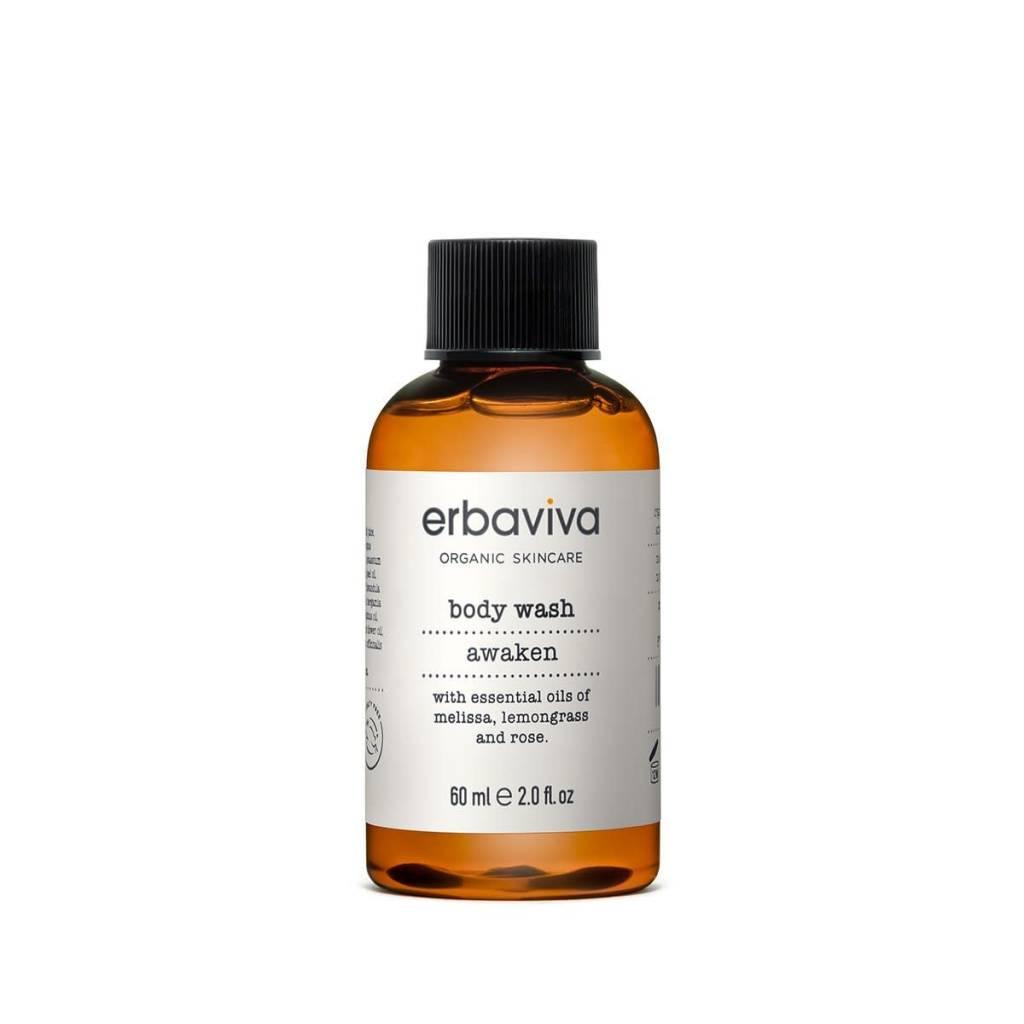 Erbaviva Awaken Body Wash, Travel - 60ml / 2 fl. oz.