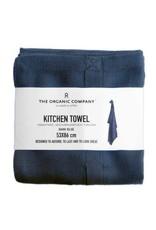 The Organic Company Organic Kitchen Towel, Dark Blue