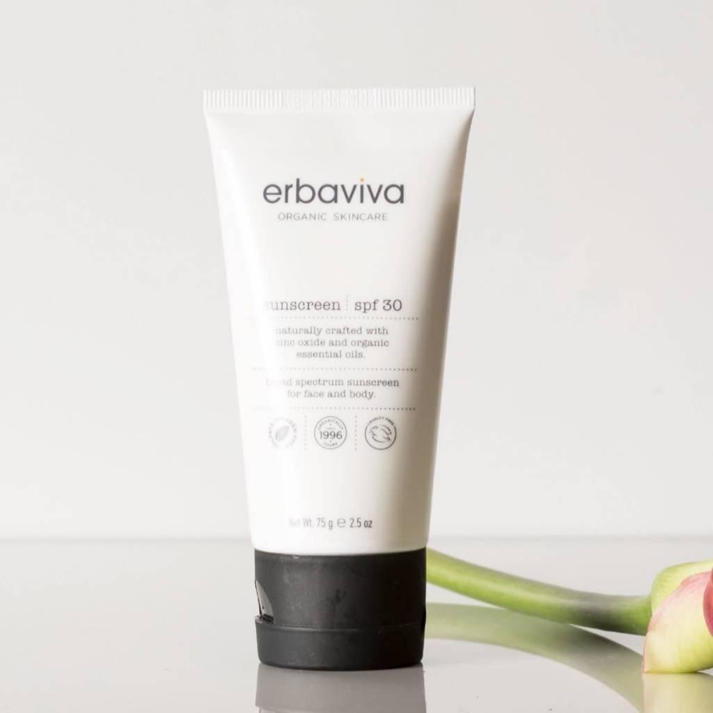 Erbaviva Organic Sunscreen SPF 30, 2.5 oz