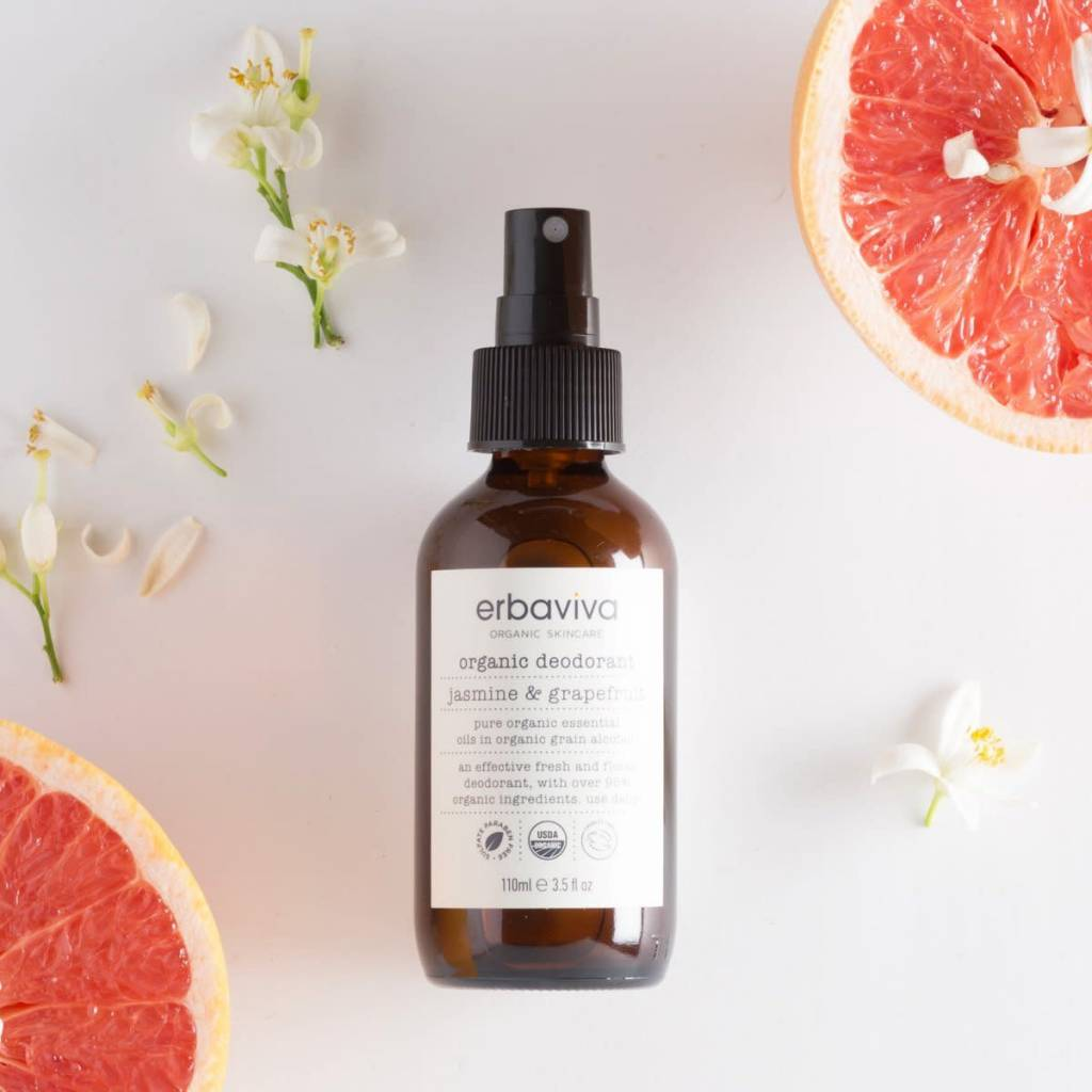 Erbaviva Organic Deodorant, Jasmine Grapefruit - 3.5 fl oz