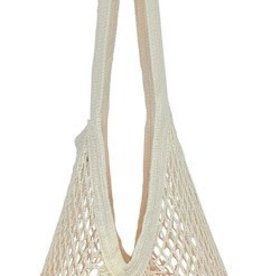 Eco Bags Organic String Market Bag, Long Handle, Natural