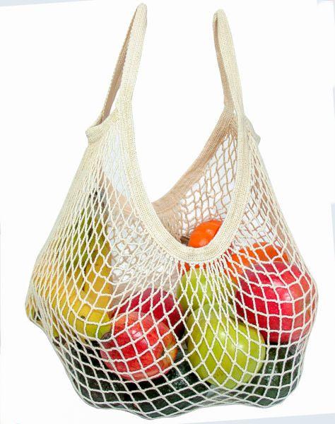 Eco Bags Organic String Market Tote Handle, Natural