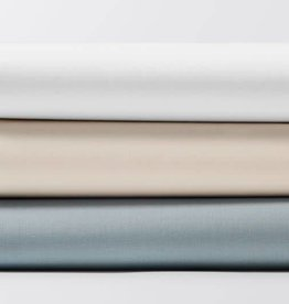 Coyuchi Organic Percale Fitted Crib Sheet - Pale Ocean