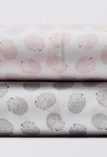 Coyuchi Hedgehog Printed Fitted Crib Sheet - Camellia