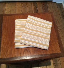 "Coyuchi Pickstitch Kitchen Towel, 20"" x 30""  - Yellow Stripe"