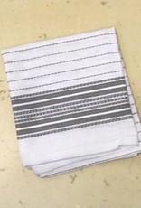 "Coyuchi Pickstitch Kitchen Towel, 20"" x 30"", Gray Border"