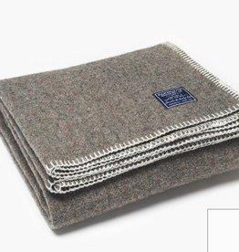"Faribault Woolen Mill Co. Eco-Woven Wool Throw 45"" x 66"" White"